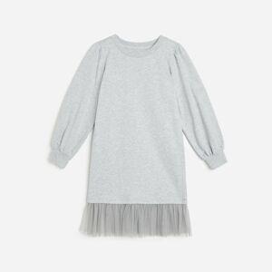 Reserved - Bavlnené úpletové šaty - Svetlošedá