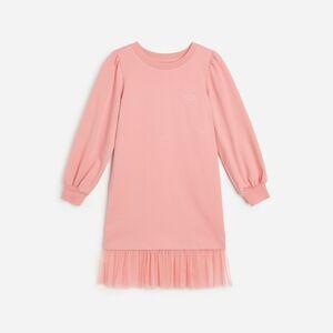 Reserved - Bavlnené úpletové šaty - Ružová