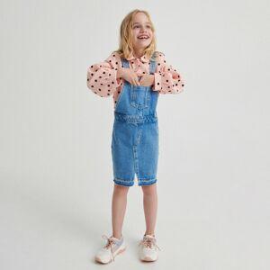 Reserved - Denimová sukňa na traky - Modrá