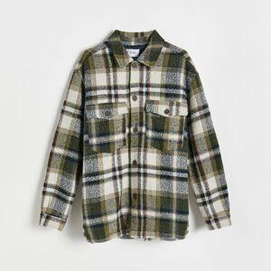 Reserved - Károvaná bunda typu shacket - Viacfarebná