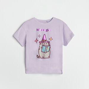 Reserved - Girls` t-shirt - Purpurová