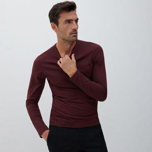 Reserved - Basic tričko s dlhými rukávmi - Bordový