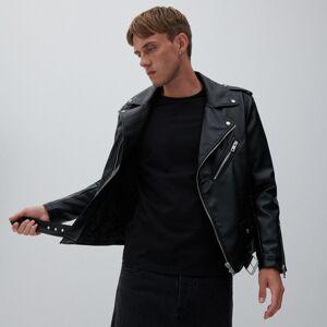 Reserved - Klasická motorkárska bunda - Čierna