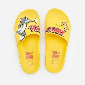 Reserved - Šľapky s aplikáciou Tom & Jerry - Žltá