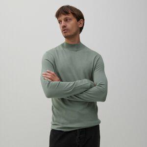 Reserved - Hladký sveter so stojačikom - Tyrkysová
