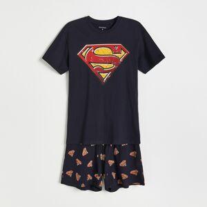 Reserved - Pyžamo so šortkami Superman - Tmavomodrá