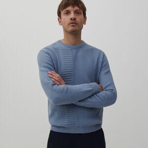 Reserved - Basic bavlnený sveter - Modrá