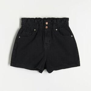 Reserved - Hladké šortky - Čierna