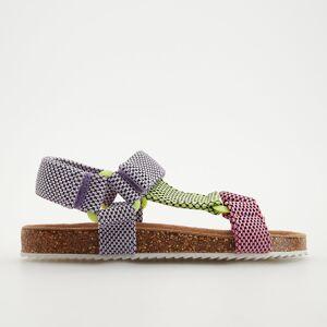 Reserved - Sandále so zapínaním na suchý zips - Purpurová