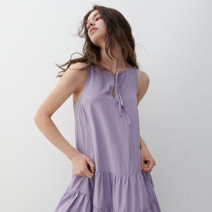 Reserved - Viskózové šaty - Purpurová
