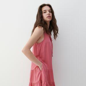 Reserved - Viskózové šaty - Ružová