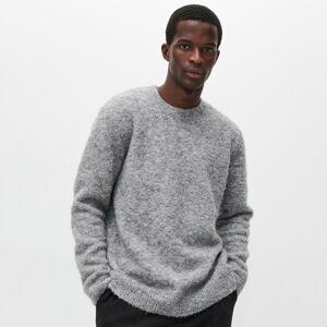 Reserved - Mäkký sveter z recyklovaného úpletu - Svetlošedá