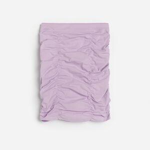 Reserved - Riasená sukňa z technického úpletu - Purpurová