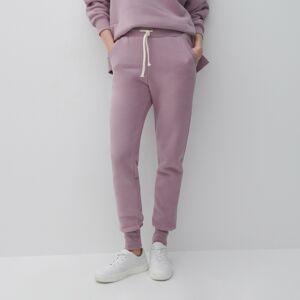 Reserved - Teplákové nohavice zorganickej bavlny - Purpurová
