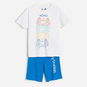 Reserved - Dvojdielne pyžamo PlayStation - Biela