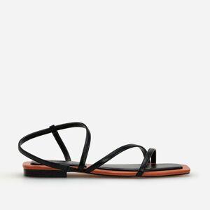 Reserved - Ladies` sandals - Čierna