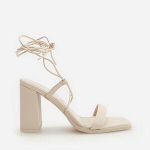 Reserved - Sandále na vysokom opätku - Krémová