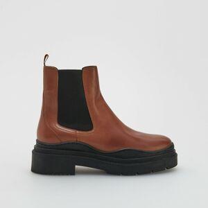 Reserved - Kožené topánky - Hnědá