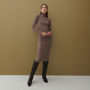Reserved - Šaty s rolákom - Hnědá