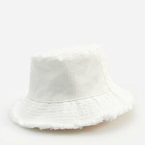 Reserved - Bavlnený klobúk typu bucket - Krémová