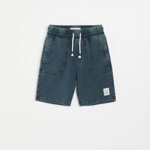 Reserved - Úpletové šortky - Modrá