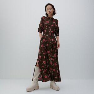 Reserved - Vzorované maxi šaty - Khaki