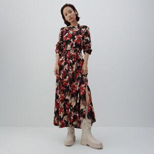 Reserved - Vzorované maxi šaty - Čierna