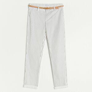 Reserved - Ladies` trousers & belt - Viacfarebná