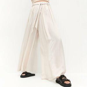 Reserved - Voľné nohavice - Krémová