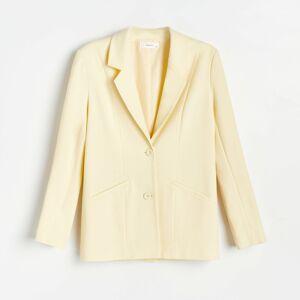 Reserved - Hladké oblekové sako - Žltá