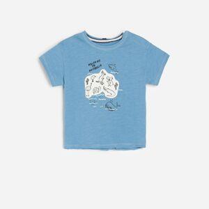 Reserved - Bavlnené tričko saplikáciou - Modrá