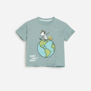 Reserved - Tričko z organickej bavlny Snoopy - Modrá