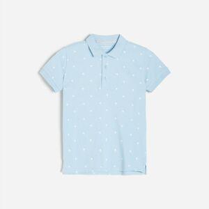 Reserved - Bavlnené polo tričko - Modrá