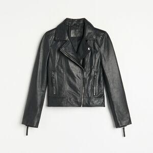 Reserved - Kožená bunda typu biker - Čierna