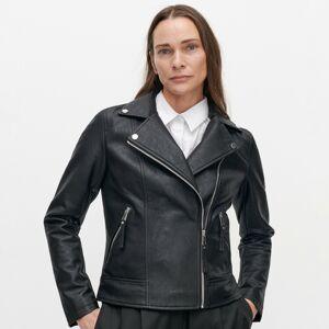 Reserved - Klasická bunda z eko kože - Čierna