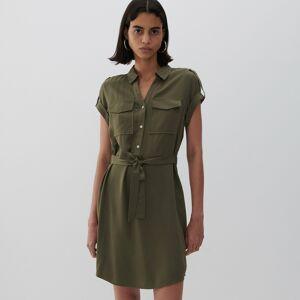 Reserved - Viskózové šaty - Zelená