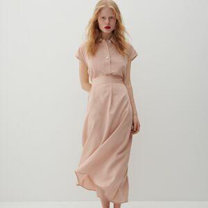 Reserved - Šaty z lyocellu značky Tencel™ - Oranžová