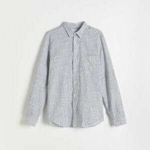 Reserved - Kockovaná košeľa - Tmavomodrá