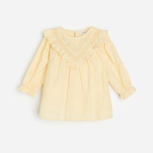 Reserved - Bavlnené šaty s aplikáciou - Béžová