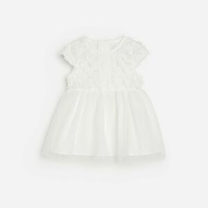 Reserved - Šaty s tylovou sukňou - Biela