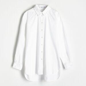 Reserved - Košeľa z organickej bavlny - Biela