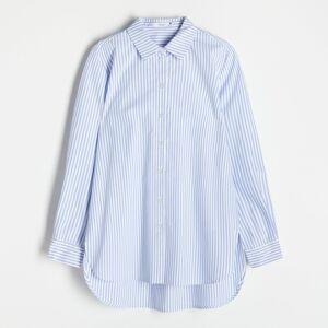 Reserved - Košeľa z organickej bavlny - Modrá