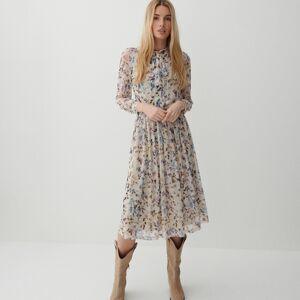 Reserved - Šaty s viazaním pri krku - Béžová