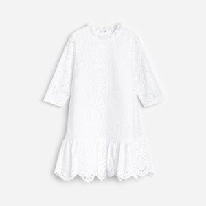 Reserved - Šaty s anglickou výšivkou - Krémová