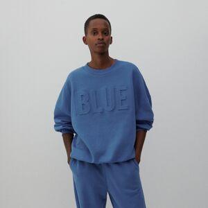 Reserved - Oversize pulóver - Modrá
