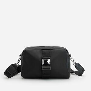 Reserved - Crossbody kabelka s ozdobnou prackou - Čierna