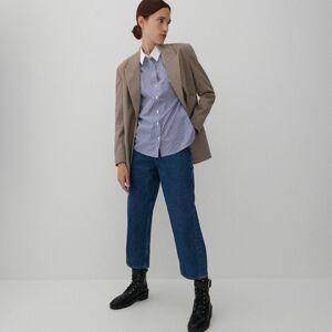 Reserved - Bavlnená pásikavá košeľa - Viacfarebná