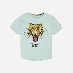Reserved - Bavlnené tričko s potlačou - Modrá