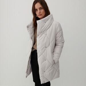 Reserved - Prešívaný kabát - Krémová