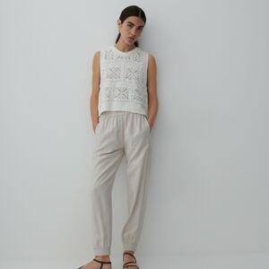 Reserved - Ladies` trousers - Krémová